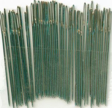 Size 28 Nickel Plated Cross Stitch  Needles -Loose